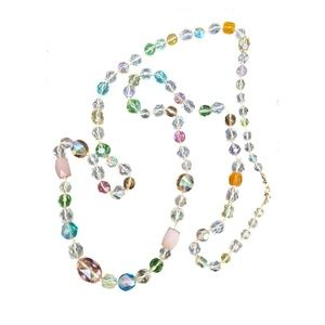 Jewelry - AB Crystal Glass Beaded Necklace